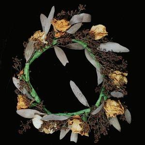 Vintage flower crown with dried roses